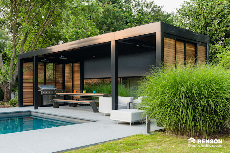 Camargue Modern terrace by Atria Designs Inc. Modern