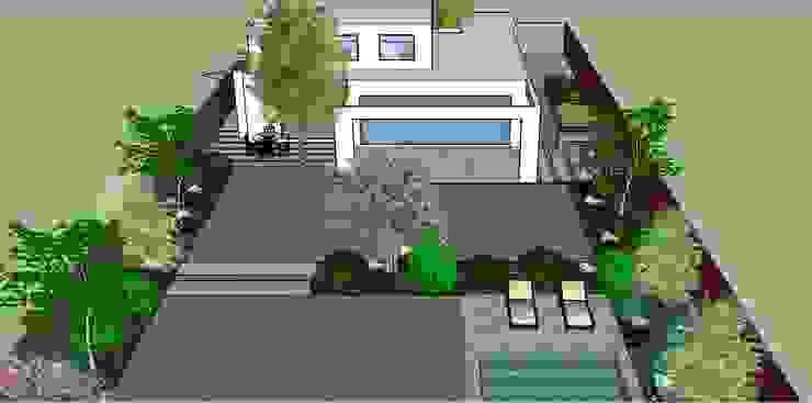 Proyecto 3D Patio posterior Jardines de estilo moderno de Aliwen Paisajismo Moderno