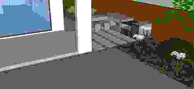 Detalle quincho diseñado en 3D Jardines de estilo moderno de Aliwen Paisajismo Moderno