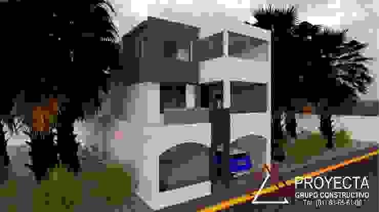 PROYECTA Grupo Constructivo Casas modernas Concreto Gris