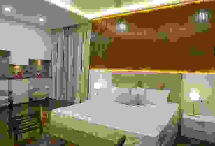 Master Bed room KREATIVE HOUSE Chambre moderne Bois massif Beige