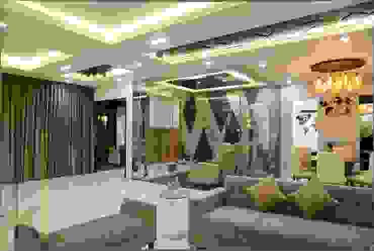 Luxury Living Room KREATIVE HOUSE Salon moderne Verre Gris