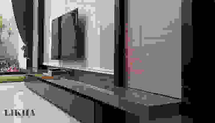 Likha Interior Minimalist living room Plywood Brown