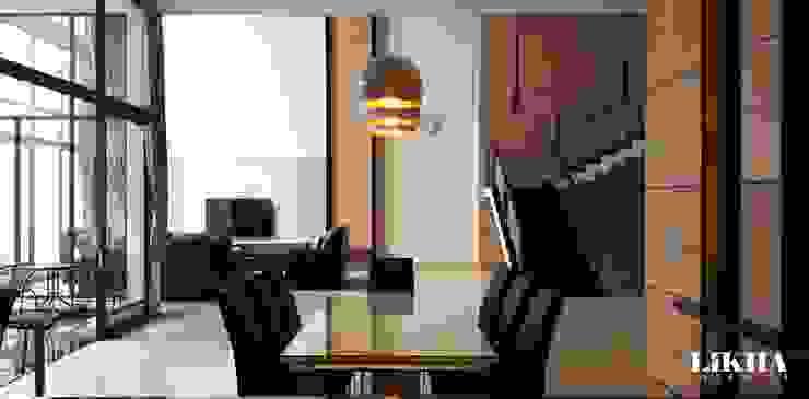 Likha Interior Minimalist dining room Plywood Brown