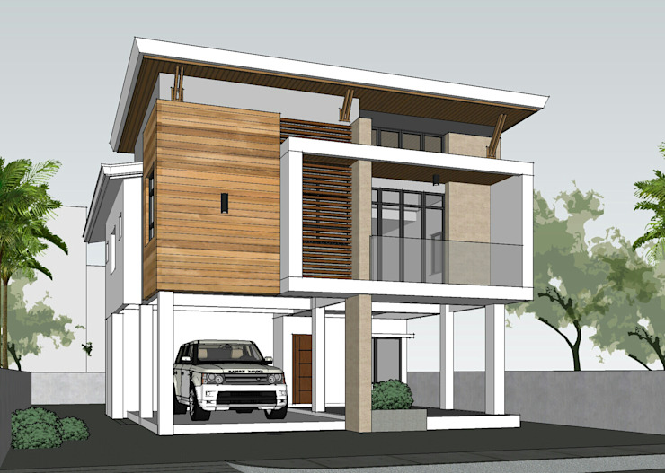 Two Storey 5 Bedroom Residential Modern home by ezpaze design+build Modern