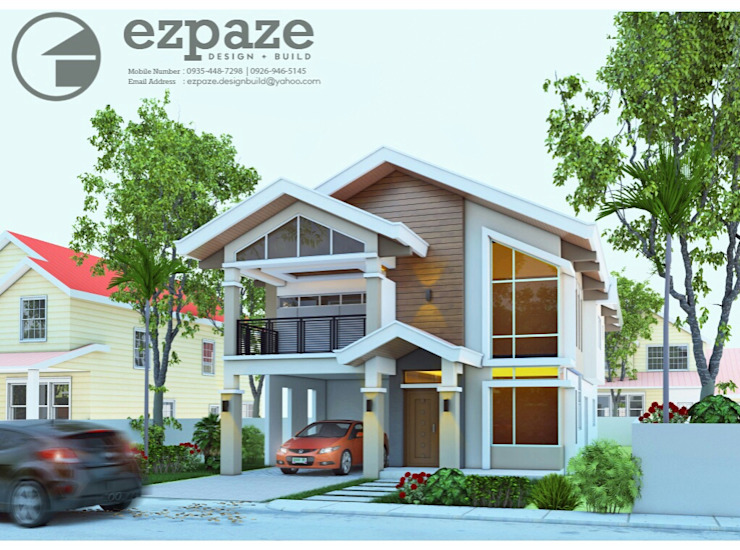 Two Storey 5 Bedroom Residential by ezpaze design+build Modern
