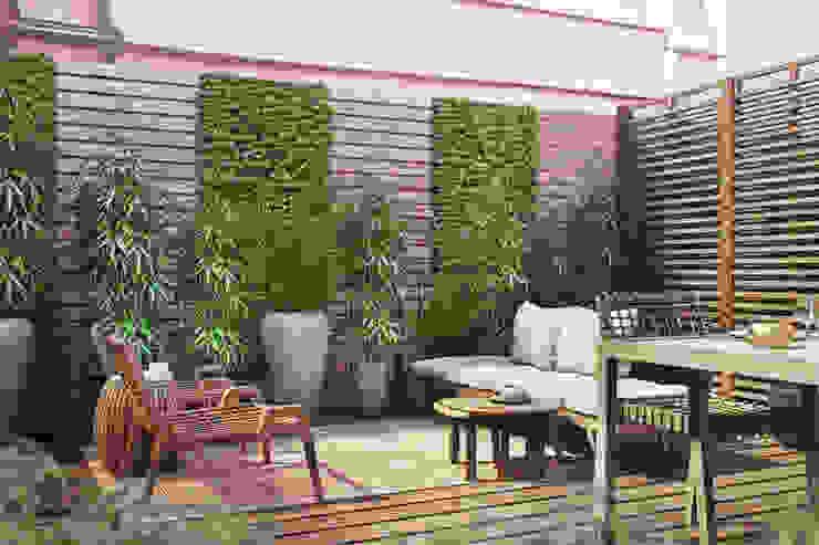 Model home - Lisbon DZINE & CO, Arquitectura e Design de Interiores Varandas, marquises e terraços ecléticos