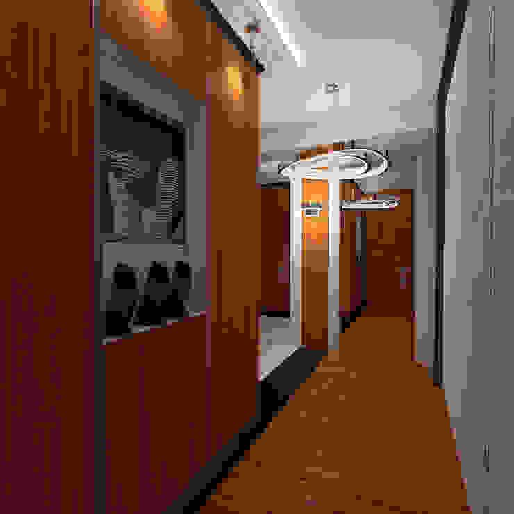 Mediterranean corridor, hallway & stairs by STUDIO DESIGN КРАСНЫЙ НОСОРОГ Mediterranean