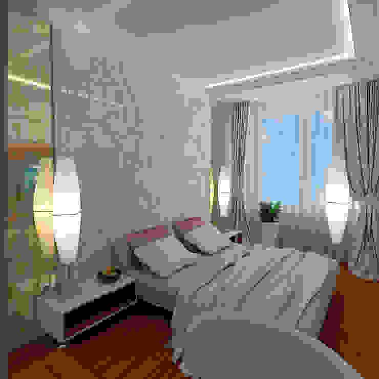 Mediterranean style bedroom by STUDIO DESIGN КРАСНЫЙ НОСОРОГ Mediterranean