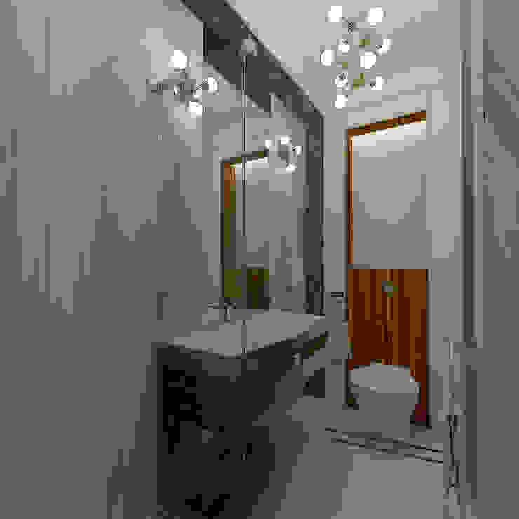 Mediterranean style bathrooms by STUDIO DESIGN КРАСНЫЙ НОСОРОГ Mediterranean