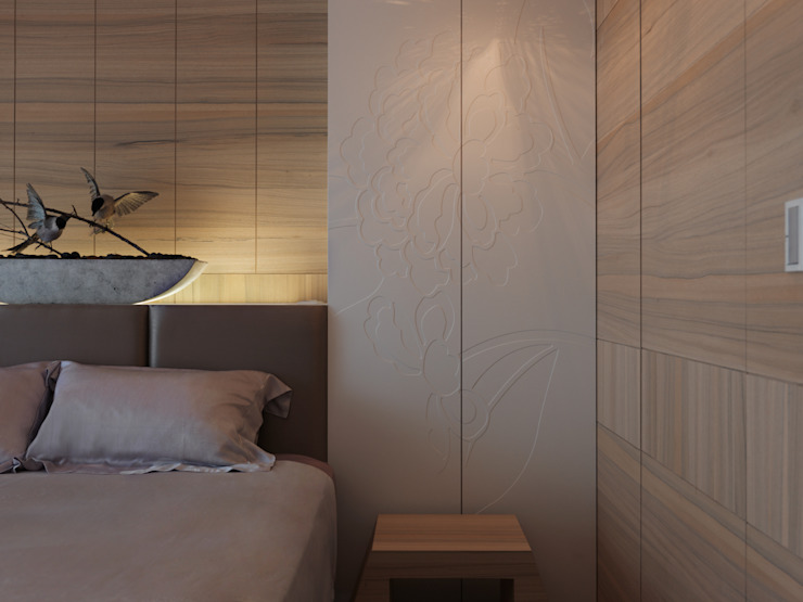 Quartos modernos por 李正宇創意美學室內裝修設計有限公司 Moderno