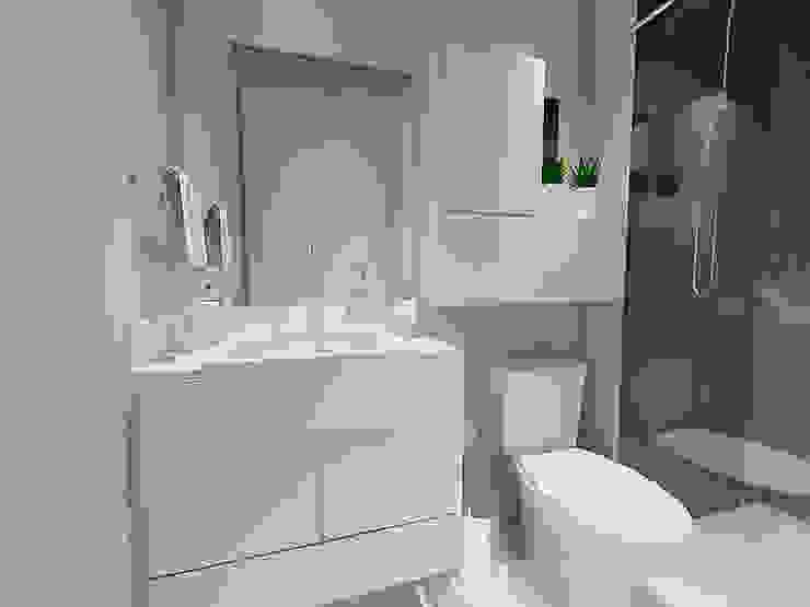 Banheiro QViveAlli Banheiros modernos Branco