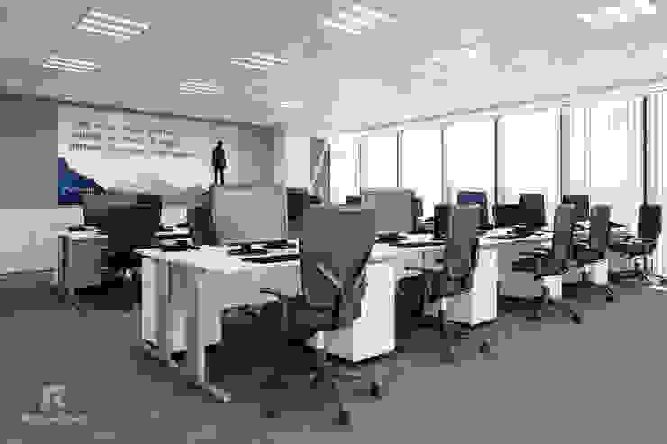 Área de trabajo RQuatro Render Studio Estudios y despachos modernos