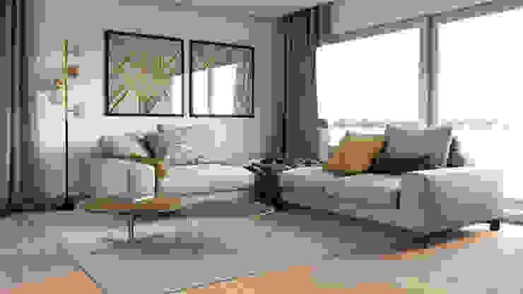 Projeto 3D Salas de estar modernas por BORAGUI - Design Studio Moderno