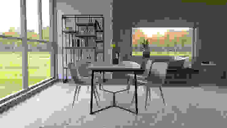 Projeto de decoração de interiores para casa de campo Salas de jantar modernas por BORAGUI - Design Studio Moderno