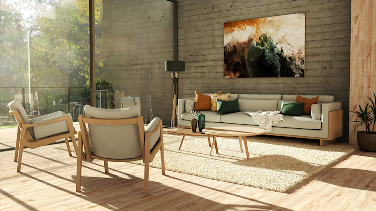 Living room by BORAGUI - Design Studio