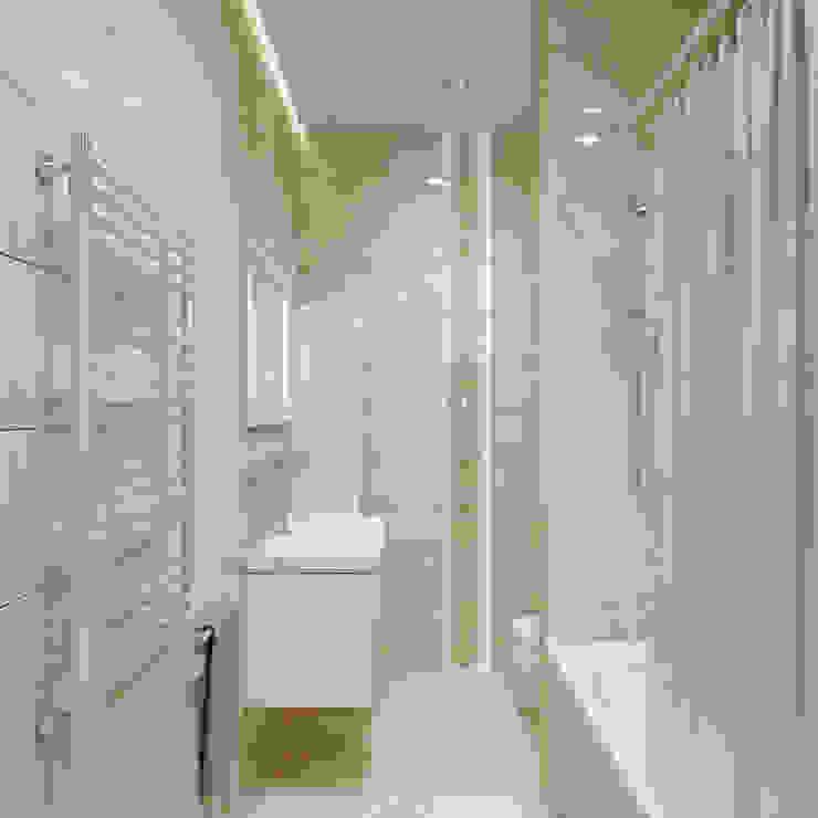 enki design Baños de estilo minimalista Azulejos Beige