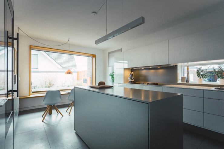 Klocke Möbelwerkstätte GmbH Cucina moderna Bianco