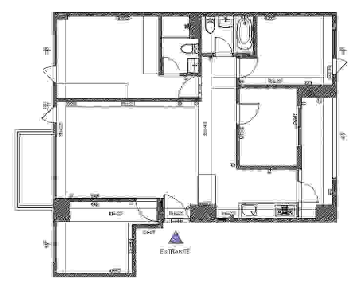 原始平面圖: 斯堪的納維亞  by 寬軒室內設計工作室, 北歐風