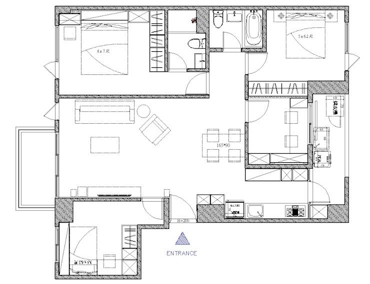 平面規劃圖: 斯堪的納維亞  by 寬軒室內設計工作室, 北歐風