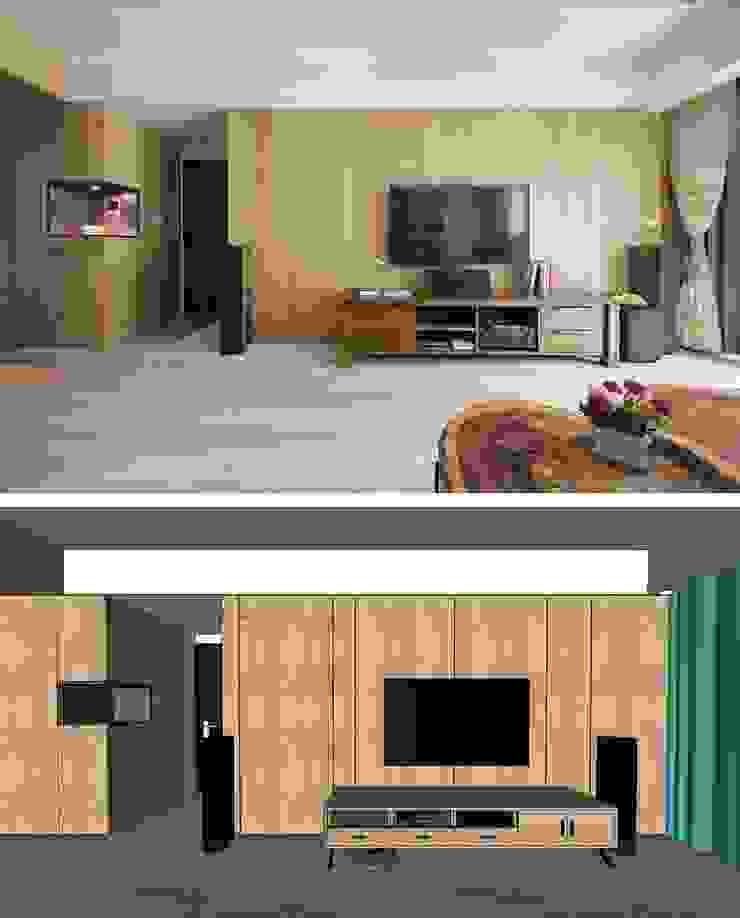 3D對比: 斯堪的納維亞  by 寬軒室內設計工作室, 北歐風
