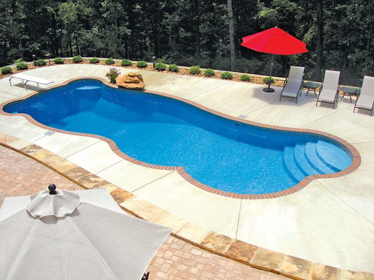 FRP Swimming Pool Tropical style pool by Scube Creations Tropical