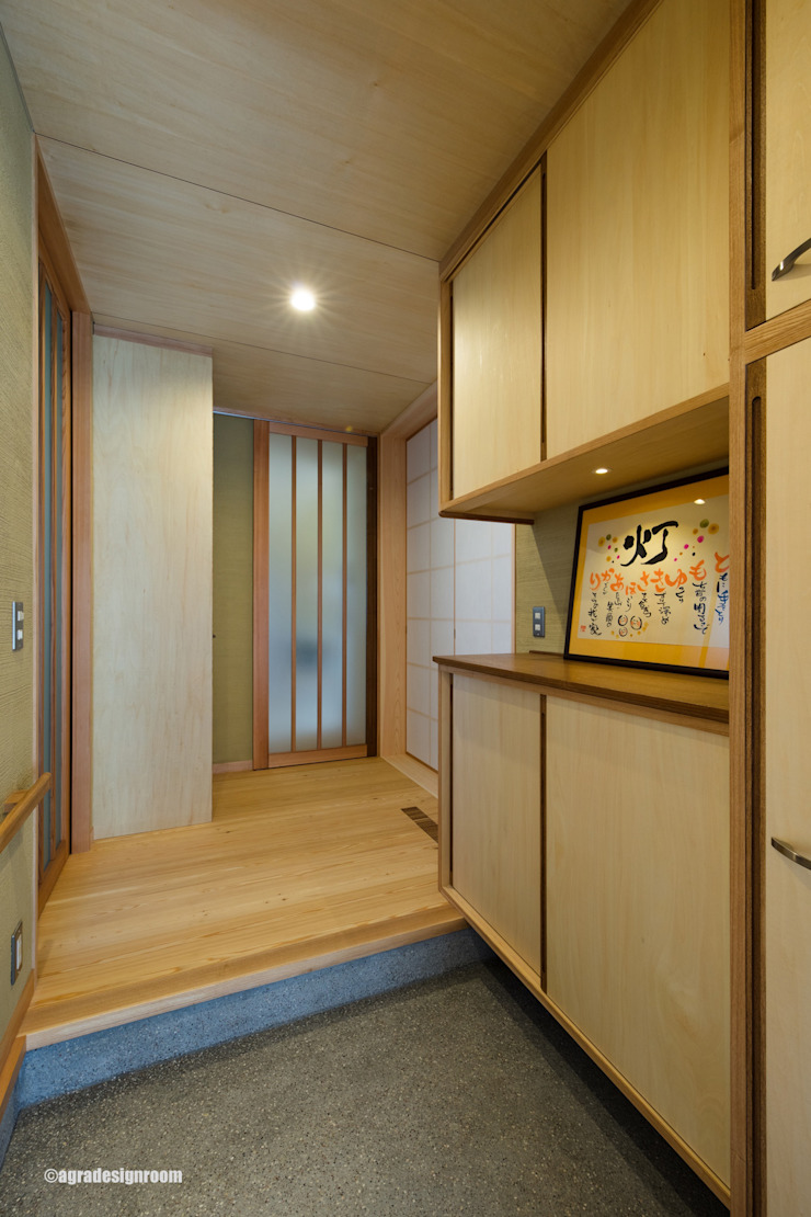アグラ設計室一級建築士事務所 agra design room Pasillos, vestíbulos y escaleras de estilo moderno