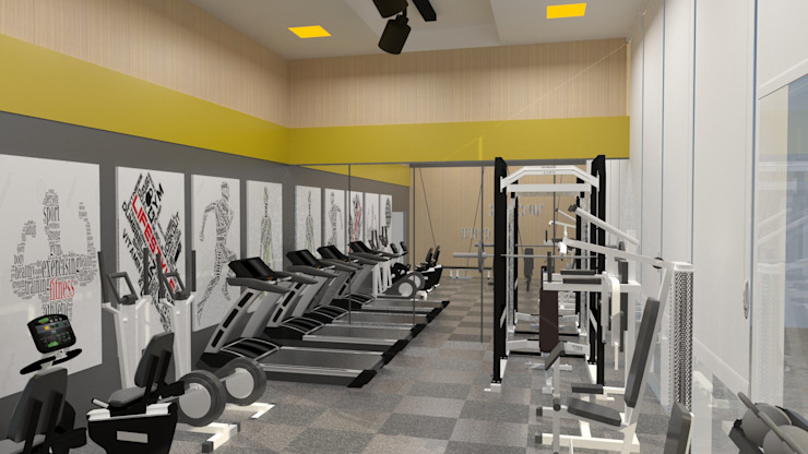 Gym by Gaille Interior & Decors