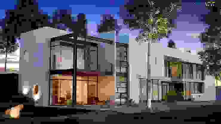 3D Exterior Home Design: modern  by Rayvat Rendering Studio, Modern