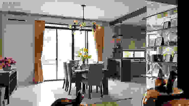 Likha Interior Modern dining room Wood effect