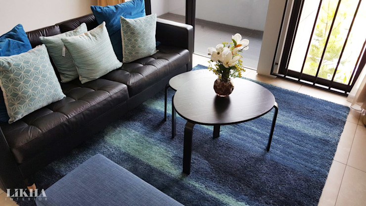 Likha Interior Modern living room Plywood Blue