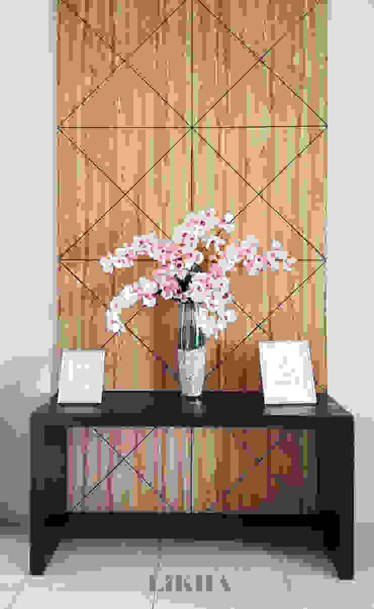 Likha Interior Modern corridor, hallway & stairs Plywood Wood effect