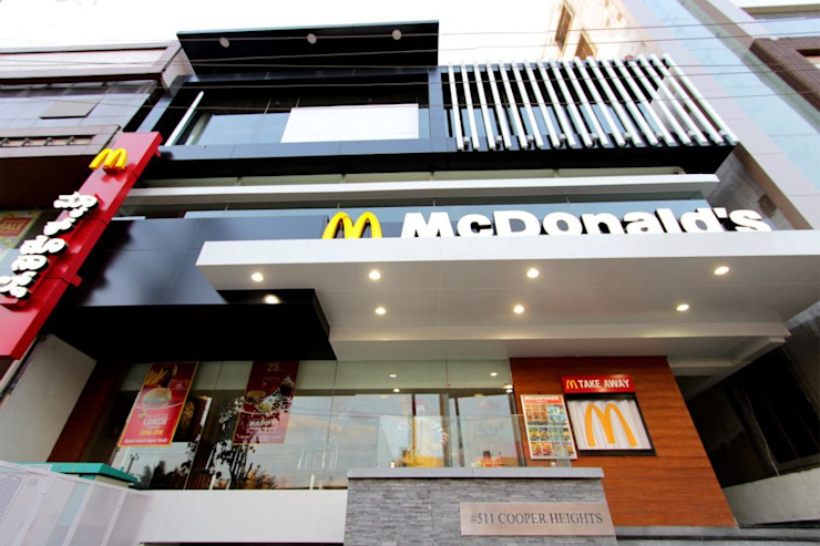 Mac Donald's Building by D'insignia Arcitects Industrial