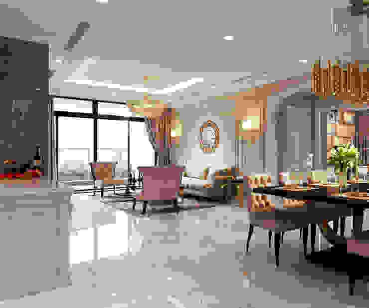 Thiết kế nội thất phong cách Tân Cổ Điển: Nội thất chất lượng – Cuộc sống đẳng cấp Phòng ăn phong cách kinh điển bởi ICON INTERIOR Kinh điển