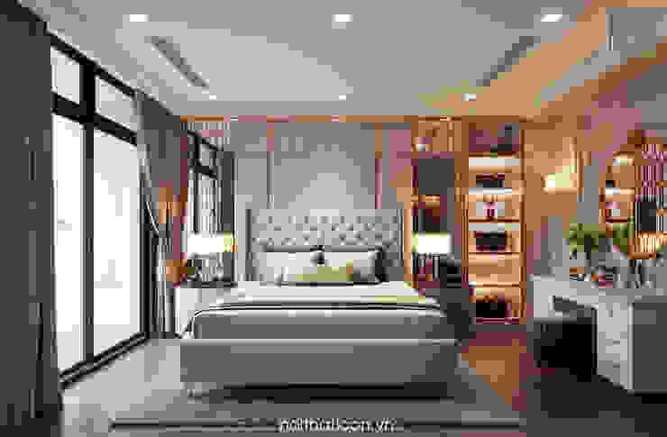 Thiết kế nội thất phong cách Tân Cổ Điển: Nội thất chất lượng – Cuộc sống đẳng cấp Phòng ngủ phong cách kinh điển bởi ICON INTERIOR Kinh điển