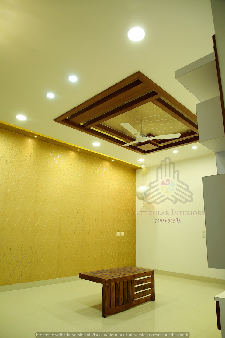Project 1 Modern corridor, hallway & stairs by Meticular Interiors LLP Modern