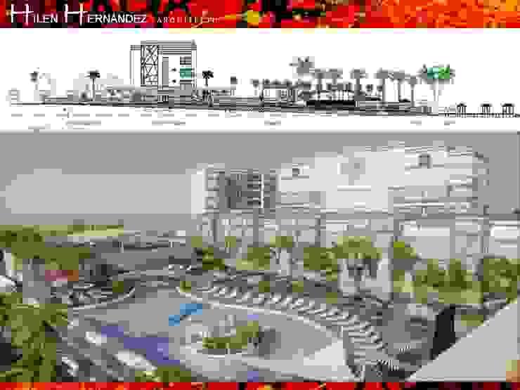 HOTEL BEST WESTERN de HZ ARQUITECTOS SANTIAGO DISEÑO COCINAS JARDINES PAISAJISMO REMODELACIONES OBRA Moderno Concreto