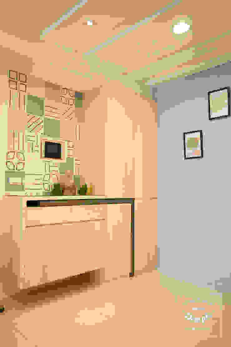 晴天娃娃-20坪小而美的混搭公寓 根據 酒窩設計 Dimple Interior Design 隨意取材風 磁磚