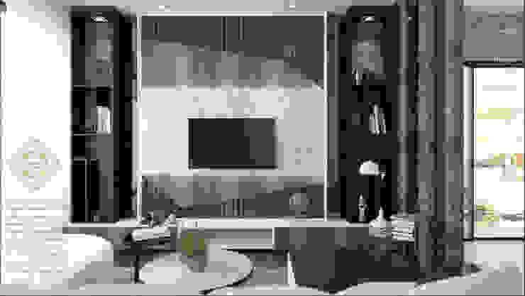 LIVING AREA:  Living room by Enrich Artlife & Interior Design Sdn Bhd