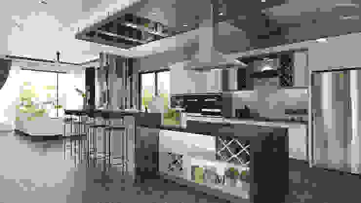 DINING WITH THE DRY KITCHEN Modern style kitchen by Enrich Artlife & Interior Design Sdn Bhd Modern