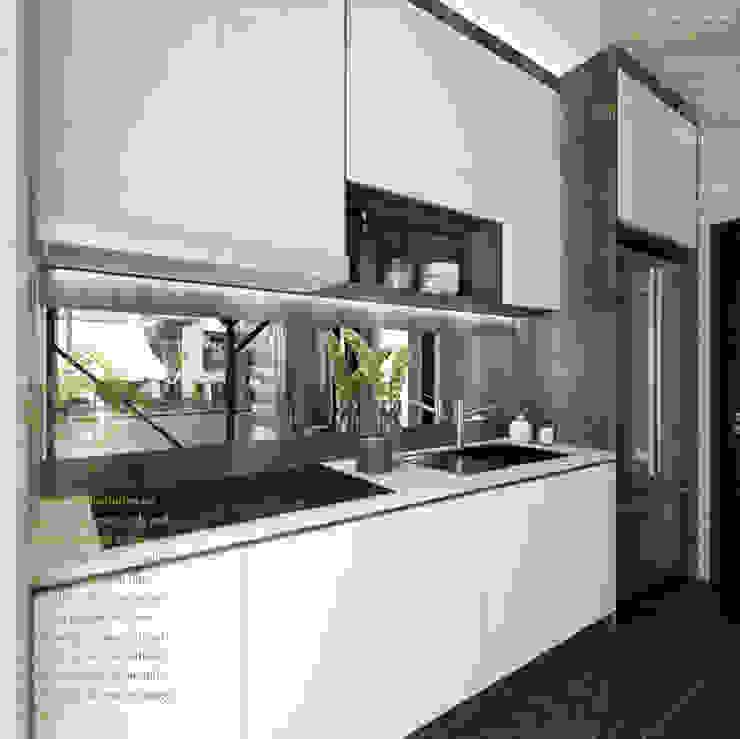 WET KITCHEN Enrich Artlife & Interior Design Sdn Bhd Modern style kitchen White