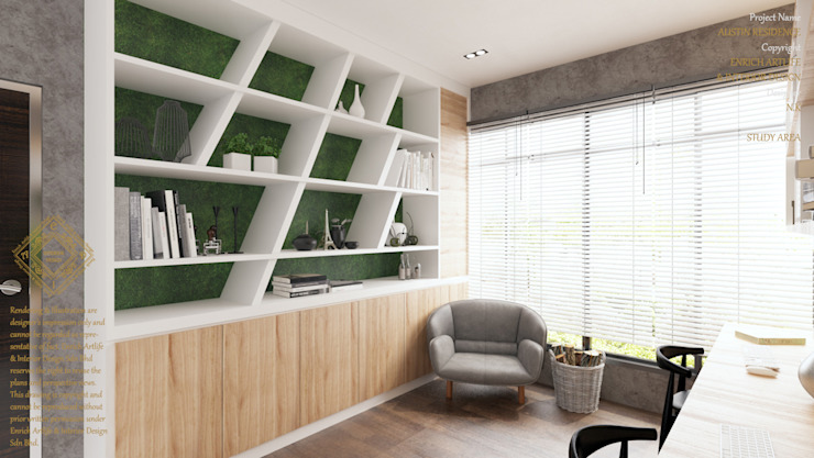 OFFICE Modern style study/office by Enrich Artlife & Interior Design Sdn Bhd Modern