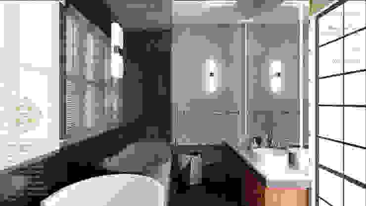 MASTER BATHROOM Modern style bathrooms by Enrich Artlife & Interior Design Sdn Bhd Modern