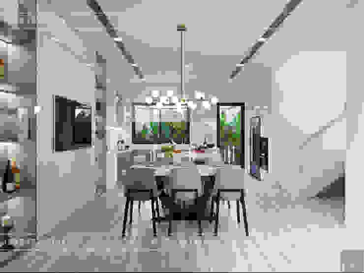 Thiết kế nội thất biệt thự Nine South – Tinh tế đến từng chi tiết nhỏ! Phòng ăn phong cách hiện đại bởi ICON INTERIOR Hiện đại