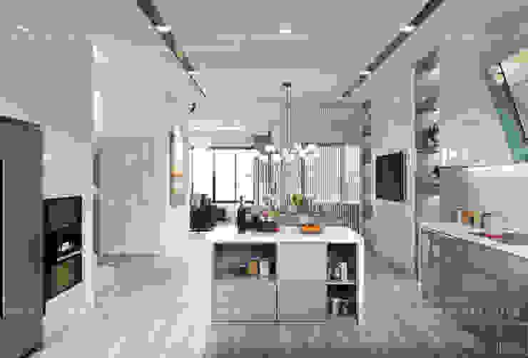 Thiết kế nội thất biệt thự Nine South – Tinh tế đến từng chi tiết nhỏ! Nhà bếp phong cách hiện đại bởi ICON INTERIOR Hiện đại