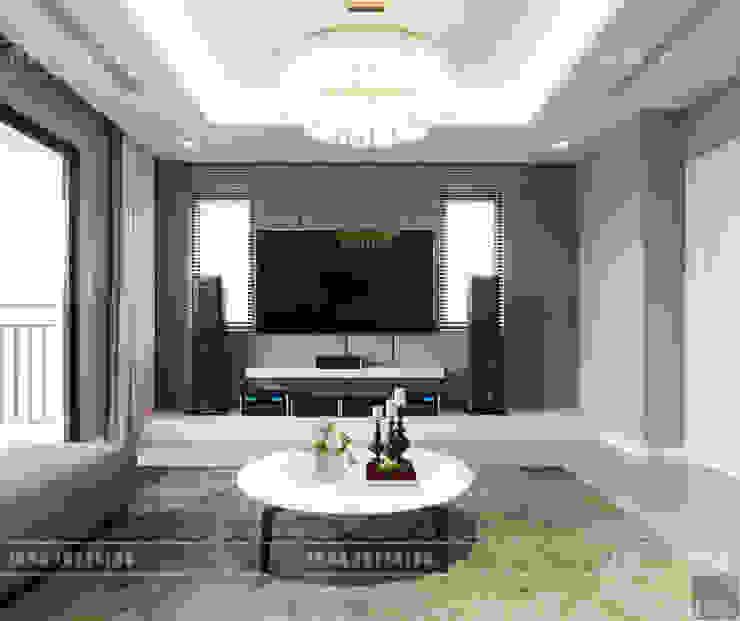 Thiết kế nội thất biệt thự Nine South – Tinh tế đến từng chi tiết nhỏ! Phòng giải trí phong cách hiện đại bởi ICON INTERIOR Hiện đại