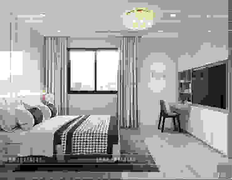 Thiết kế nội thất biệt thự Nine South - Tinh tế đến từng chi tiết nhỏ! Phòng ngủ phong cách hiện đại bởi ICON INTERIOR Hiện đại