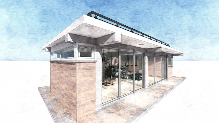 Minimalist house by Conceptual Studio ARQUITECTUR Minimalist Bricks