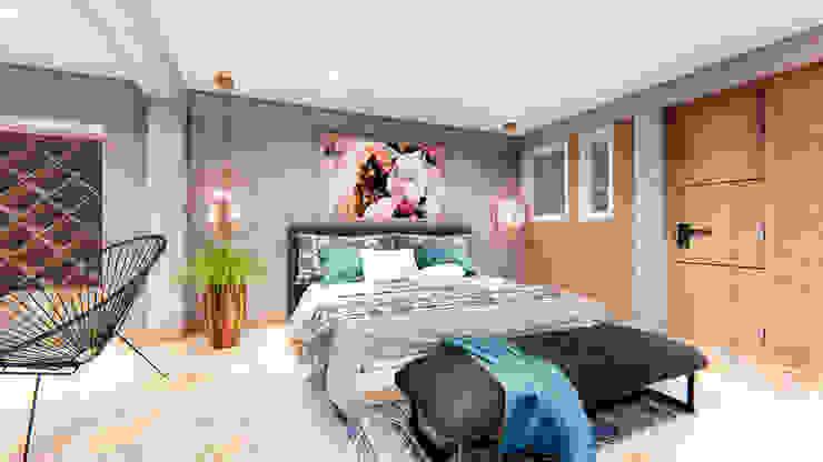 Minimalist bedroom by Conceptual Studio ARQUITECTUR Minimalist Bricks