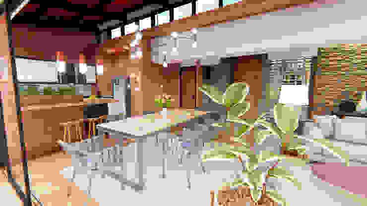 Casa Villa Real Comedores de estilo moderno de Conceptual Studio ARQUITECTUR Moderno Madera Acabado en madera